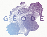 Geode 3D Wireframe Abstract Graphics