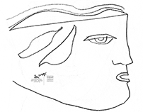 ca·pric·ci·os [line drawings by mgk], faces
