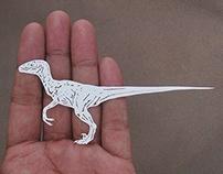 Miniature Papercut - Jurassic park - Dinosaurs