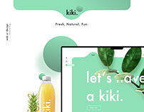 kiki. UI Web Design.