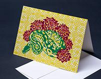 Letterpress Snake Greeting Cards