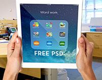 5 iPad Air Mockup Free PSD