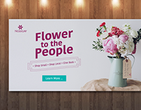 Web Banner [Flower to the People]