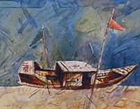 Watercolor of SADEK AHMED   www.sadekahmed.com