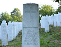 In Srebrenica Memorial: the only Christian grave