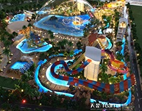 Scale model for water theme park project