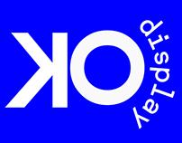 DISPLAY O.K. branding + logo design