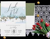 Winter Destination Wedding Invitation Card