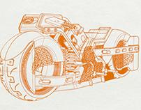 Heavy duty motorbike
