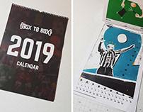 Illustration For A Box To Box Football Calendar