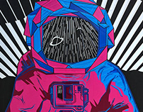 SPACE ODDITY // TAPEART PIECE // Beijing, China