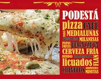 Pizzería Podestá - Cartelería interior y exterior