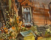 Watercolor/ Russian province