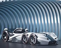 24 Le-Mans 6 wheel concept.