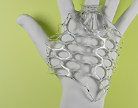 Organic Shapes - Hand Ornament