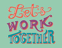 """Let's Work Together"" Social Media Graphic"