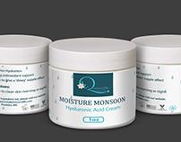 Moisture Monsoon bottle label design