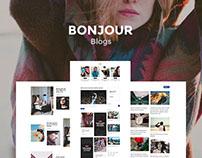 Bonjour - Blog Pages