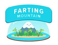 Cute animated mountain. GIF animation concept art