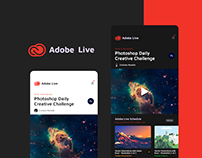 Adobe Live App Concept Design