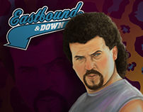 Kenny Powers illustration Eastbound & Down serie