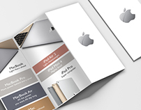 College Project. Apple. Promotional Z-Fold brochure