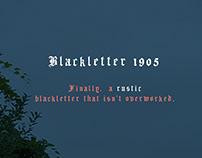 Blackletter 1905 Vintage Font