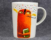 Pan Bibliotekarz, hand-painted mug