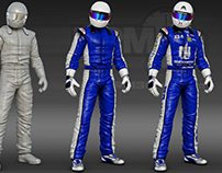 Nationwide 3D Racing Suit Render