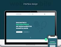 Interface design for drug startup - web and mobile
