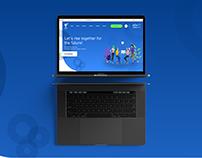 eAzi Start Website Material Design (UI-UX)