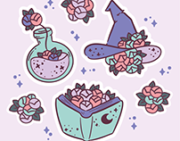 ILLUSTRATION + PRODUCT: Garden Witch Kit