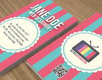 Retro Inspiration Business Card Design