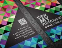 Mosaic Angles Business Card Design