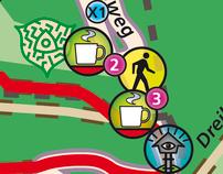 Routekaarten boekje: wandelen rondom het drielandenpunt