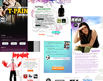YourSpins landing pages (2008)