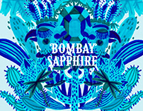 Bombay Sapphire Dry Gin Illustration