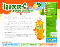 squeeze-c.com website design (august 2009)