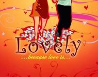 """""""lovely"""" CD cover design vector (2004)"""