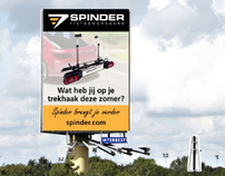 Billboard, Banners & Facebook | Spinder fietsendragers