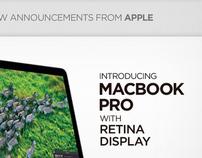 Apple MacBook Pro with Retina Display - email design