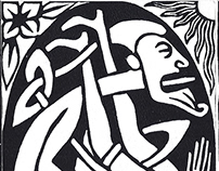 Linocuts, pseudo linocuts and pseudo engravings