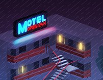 Motel. Open 24H / Illustration