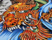 'Tatsu' Dragon Skate Decks & Print