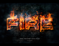 Flames and Text on fire with Photoshop Layer Styles