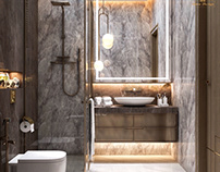 Master bathroom design in kSA