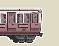 Comic Stylized Carriage Illustration