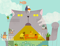 Cats' Daydream House