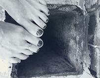 industrial B&W naked #toe pic #toefie studie