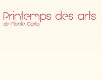 Affiche typographique | Le printemps des arts